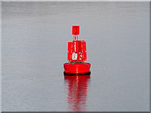 "SU4208 : Marker Buoy ""Test"" in Southampton  Water by David Dixon"
