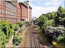 SU4212 : Railway at Kingsland Place (Looking East) by David Dixon