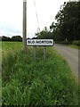 TM0079 : Blo Norton Village Name sign on Hall Lane by Adrian Cable