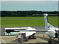 SU4516 : Refuelling at Southampton Airport by David Dixon