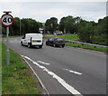 SN5707 : From 70 to 40, Pont Abraham, Carmarthenshire by Jaggery