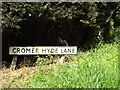 TL2012 : Cromer Hyde Lane sign by Adrian Cable