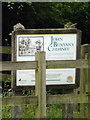 TL1912 : Sign near John Bunyan's Chimney by Adrian Cable