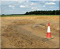 TG1715 : Construction of a new road junction by Evelyn Simak