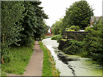 SD7807 : Bridge Abutment; Manchester, Bolton and Bury Canal by David Dixon