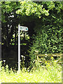 TL1916 : Bridleway sign off Bride Hall Lane by Adrian Cable