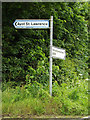 TL1717 : Roadsign on the B651 Ballslough Hill by Adrian Cable