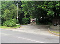 ST4769 : Leafy suburban junction in Nailsea by Jaggery