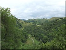 SK0954 : View up the Manifold Valley from Thor's Cave by Gary Rogers