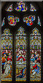 SK8333 : Stained glass window, St James's church, Woolsthorpe by Belvoir by Julian P Guffogg