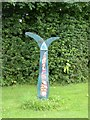 NY4930 : National Cycle Network milepost outside Newton Rigg College by Oliver Dixon