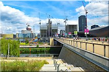 TQ3884 : Under construction: Stratford City International Quarter by Julian Osley