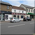 SO6303 : Fish & chips shop between two banks, Lydney by Jaggery