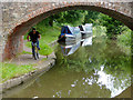 SK0915 : Canal east of Handsacre, Staffordshire by Roger  Kidd