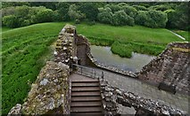 NY0265 : Caerlaverock Castle: View from the east curtain wall by Michael Garlick