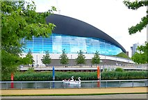 TQ3884 : Swan boats, Waterworks River, Queen Elizabeth Olympic Park by Julian Osley