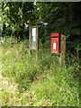 TM0479 : Chequers Lane Postbox & Village Notice Board by Adrian Cable