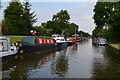 SP1974 : Moored narrowboats near the Black Boy public house by David Martin