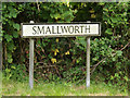 TM0080 : Smallworth sign by Adrian Cable