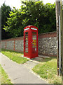 TM0382 : Adopted Telephone Box with North Lopham Defibrillator by Adrian Cable