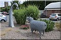 SO4959 : Ryeland sheep statue in Leominster by Philip Halling