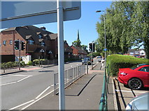 SK0418 : Forge Road in Rugeley by Peter Wood