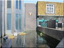 TQ3296 : The New River in front of Enfield Civic Centre, Silver Street, EN1 (3) by Mike Quinn