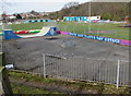 SH7978 : Victoria Park Skatepark, Llandudno Junction by Jaggery