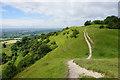 SO8208 : Path on the escarpment of Haresfield Beacon by Bill Boaden