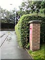SJ9595 : Brick Pillar box (SK14 21) on Welch Road by Gerald England