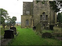SE0423 : St Peter's, Sowerby: former path by Stephen Craven