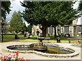 TF4609 : Fountain in the church gardens - Wisbech in Bloom 2016 by Richard Humphrey