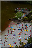 SX9265 : Torquay : Babbacombe Model Village - Beach by Lewis Clarke