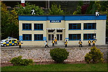 SX9265 : Torquay : Babbacombe Model Village - Police Station by Lewis Clarke