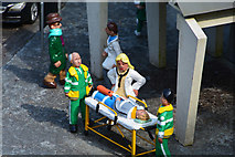 SX9265 : Torquay : Babbacombe Model Village - Hospital Scene by Lewis Clarke