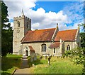 TL3321 : All Saints Church, Little Munden by Jim Osley