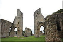 ST5038 : Glastonbury Abbey: view westward from the chancel by Bill Harrison