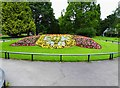 SO8454 : Flowerbed (2), Cripplegate Park, New Road, Worcester by P L Chadwick