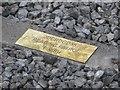 SU5886 : Plate in the Sleeper by Bill Nicholls