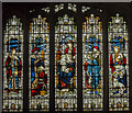 SK8832 : Stained glass window, Ss Mary & Peter church, Harlaxton by Julian P Guffogg