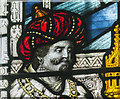 SK8832 : Detail of stained glass window, Ss Mary & Peter church, Harlaxton by J.Hannan-Briggs