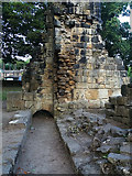 SE2536 : Kirkstall Abbey - reredorter (1) by Stephen Craven