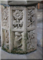 SK8832 : Font detail, Ss Mary & Peter church, Harlaxton by J.Hannan-Briggs