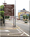 ST3187 : Addition to a tourist attractions sign, Cardiff Road, Newport by Jaggery
