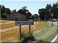 TM0275 : Wattisfield Village Name sign on the A143 Diss Road by Adrian Cable