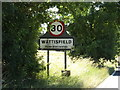TM0174 : Wattisfield Village Name sign on the A143 Diss Road by Adrian Cable