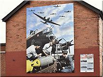 J3272 : Polish Air Forces (Polskie Siły Powietrzne) mural, Benburb Street, Belfast – August 2016(1) by Albert Bridge