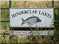 TM0376 : Hinderclay Lakes sign by Adrian Cable