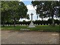 TF7110 : Cross of sacrifice in Marham Cemetery by Adrian S Pye