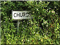 TM0474 : Church Lane sign by Adrian Cable